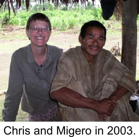 Chris and Migero in 2003